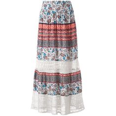 Women's Studio 253 Lace Maxi Skirt ($35) ❤ liked on Polyvore featuring skirts, white oth, long skirts, white skirt, maxi skirts, boho skirts and bohemian maxi skirt