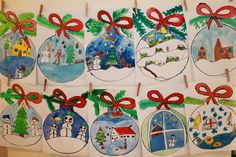 Christmas Art Projects, Christmas Arts And Crafts, Winter Art Projects, Winter Crafts For Kids, Christmas Activities, Xmas Crafts, Kids Christmas, Art For Kids, Christmas Ornament