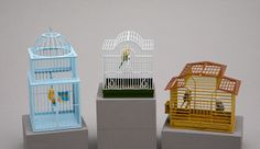 All The Small Things  a-mini-a-day:    Miniature bird cages!