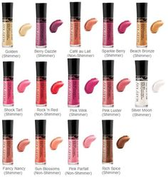 I love these lovely lip glosses!  So many bright colors that leave your lips feeling soft and smooth!