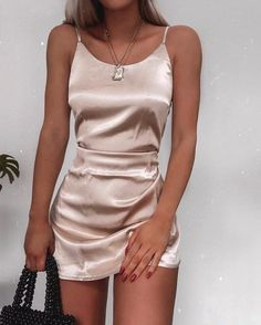 Slip Dress For New Year's Eve Party Slip Dress For New Year's Eve Party silky-slip-dress-new-years-eve-outfit-ideas-christmas-party-outfits The post Slip Dress For New Year's Eve Party & outfits. appeared first on Outfits . Outfits Casual, Mode Outfits, Casual Dresses For Women, Cute Dresses, Fashion Outfits, Clothes For Women, Slip Dresses, Party Outfit Casual, Clubbing Outfits