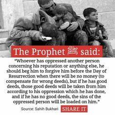 Men: If u have damaged an innocent woman's reputation, this Hadith & Quran is for u. Al Bukhari Hadith, Islam Hadith, Islam Muslim, Islam Quran, Alhamdulillah, Islam Beliefs, Islamic Teachings, Islam Religion, Islamic Dua