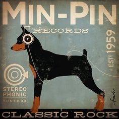 Min Pin Records miniature pinscher album style by geministudio, $79.00. We need this!
