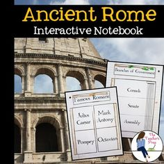 These interactive notebook graphic organizers will help students organize information about the ancient Romans!Interactive notebooks are an effective tool in the classroom. Not only can they assist students in keeping their work organized, but they are also an easy-to-access resource for reference throughout the year.