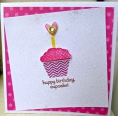 Stampin' Up!  Patterned Occasions happy birthday cupcake Sale-a-bration