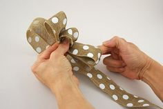 DIY: How to Tie a Loopy Bow - save on crafts