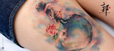Woah- this is breathtaking! Tattoo inspired by The Little Prince By Marcel Kuo