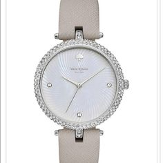Crystal case Eldridge watch for Kate spade Brand new. Comes with package and everything. 100% authentic. Gray and crystal Kate spade New York watch. kate spade Accessories Watches