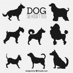 Assortment of fantastic dog silhouettes