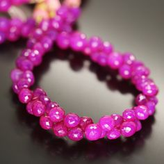 Natural Hot Pink Chalcedony Faceted Tear Drop Briolette Bead Strand 25mm 30mm 8