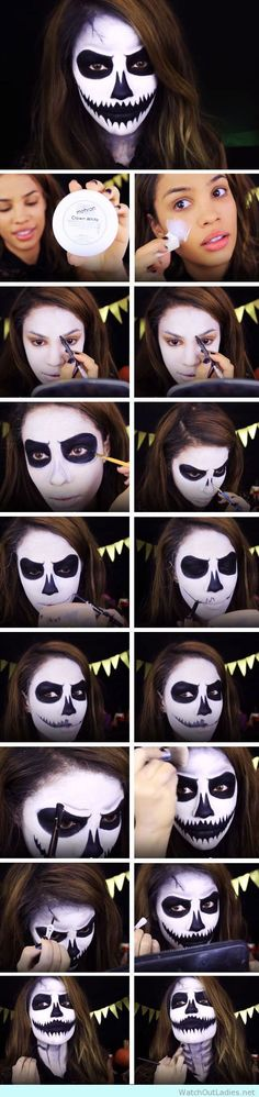 white-and-black-makeup-for-halloween