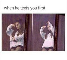 Ariana Grande Texting Crush Meme