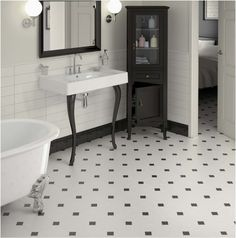 Permalink to Unique Black and White Octagon Bathroom Tile