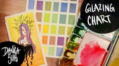 How to Create a Watercolor Glazing Chart + Tiny Painting