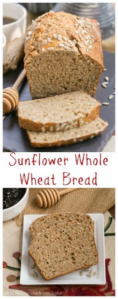 Sunflower Whole Wheat Bread | A whole wheat quick bread with oats, buttermilk and sunflower seeds!