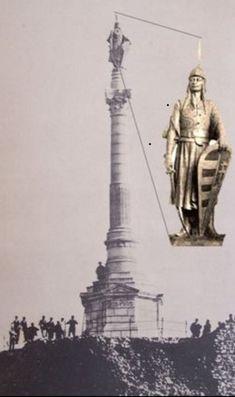 na Devíne dnes neexistujúci obelisk s kniežaťom Arpádom. 12. Januára 1921 odstránili (odpálili)československý legionári Bratislava, Statue Of Liberty, Castle, Retro, Country, Travel, Statues, Times, Celebrities