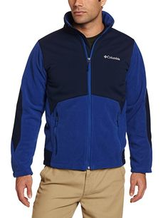 Cover: Columbia Men's Big Ballistic Iii Fleece Jacket, Royal/Collegiate Navy.  Shell: 100% Polyester; 94% Nylon/6% Elastane; Machine Wash Omni-shield advanced repellency 3-point interchange system Wind proof Bonded fleece Vented