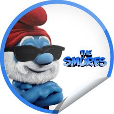 Papa Smurf Sticker | GetGlue Guys And Girls, Smurfs, Sticker, Cute, Character, Decals, Kawaii, Decal, Lettering