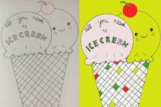 Creative Art Challenge all you need is icecream Daniella Weber