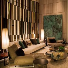 Luxury furniture - The Characteristics of Apartment Lobby Classic – Luxury furniture Lobby Interior, Luxury Homes Interior, Luxury Home Decor, Interior Logo, Interior Lighting, Interior Architecture, Design Furniture, Luxury Furniture, Home Furniture