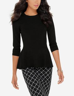 Peplum Sweater   Women's Cardigans & Sweaters   THE LIMITED