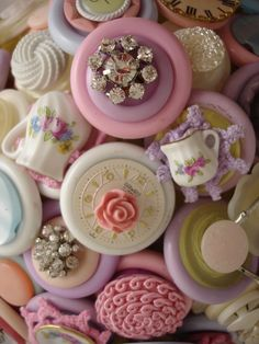 Alices Tea Party Wedding Bridal Button Bouquet