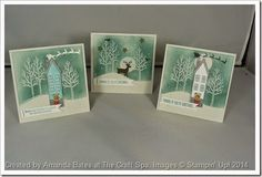 White Christmas Class series Part 4. Handmade Holiday Home too. Made by Amanda Bates at The Craft Spa.