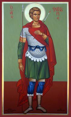 The Great Martyr Saint Fanourios Greek Icons, Church Icon, Byzantine Art, Orthodox Christianity, Orthodox Icons, Religious Art, Christian Faith, Catholic, Saints
