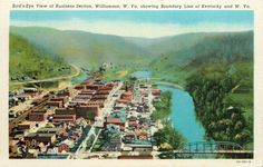 Overview of Williamson, WV, Early 1900's.