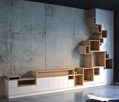 Modular system furniture design by Filip Janssens. System Furniture, Cool Furniture, Modern Furniture, Furniture Design, Furniture Plans, Interior Architecture, Interior And Exterior, Interior Design, Design Oriental