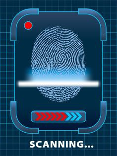 Security Fingerprint - free vector graphics 2014 VBS Agency D3