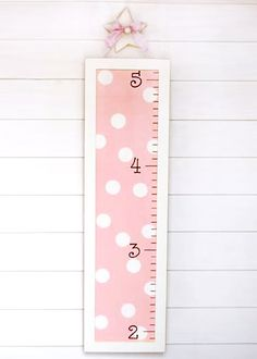 New Arrivals Growth Chart Pink Polka Dot