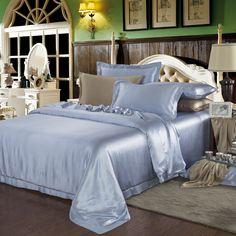 19 Momme Silk Sheets Silk Bedding, Duvet Bedding, Satin Sheets, Flat Sheets, Beds Online, Luxury Bedding Sets, Mulberry Silk, Duvet Covers
