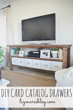 Add drawers to your rustic x console