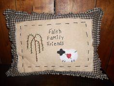 Primitive Pillows by vickietaylor5 on Etsy, $22.00
