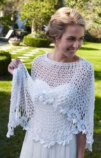 Cover your shoulders for your ceremony or keep warm as the sun sets with this stunningly beautiful Spring Blooms Crochet Shawl Pattern. The delicate romanticism of the piece makes it ideal for the biggest day of your life.