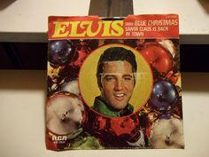 Elvis Sings Blue Christmas & Santa Claus is Back in Town - 1977 Pic Sleeve w/45