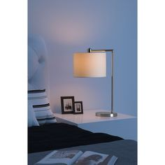 Race Table Lamp Chrome | See White