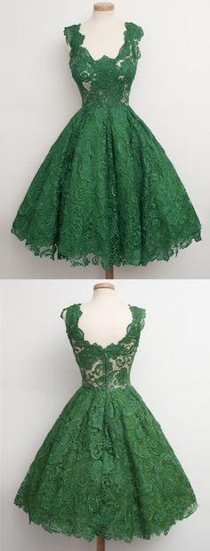 short homecoming dresses,lace homecoming dresses,green homecoming dresses,short prom dresses