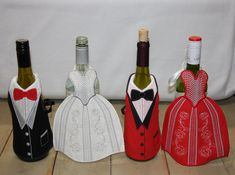 Personalized Towels, Personalized Wine, Adoption Gifts, Paper Flowers Craft, Wine Tags, Small Sewing Projects, Bottle Bag, Wine Bottle Crafts, Wine Gifts