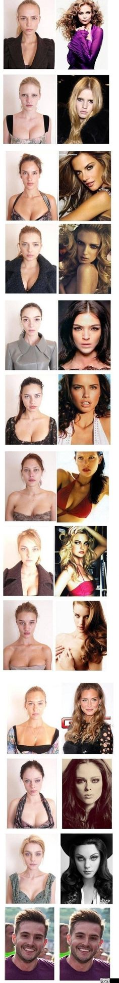 So, moral of the story... They're all hideous and have huge boobs. Based on that criteria, I'm a freaking SUPER MODEL!!!! :D