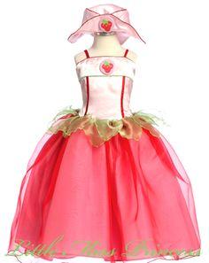 Girls Strawberry Shortcake Princess Costume