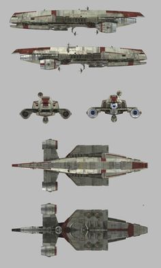 Concept art for STAR WARS REBELS: multiple views of the Gozanti cruiser Krayt's Honor used by the Empire. 2014 © Lucasfilm Ltd. and TM. All Rights Reserved.
