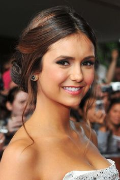 Nina Dobrev at event of The Perks of Being a Wallflower.   Beautiful hair