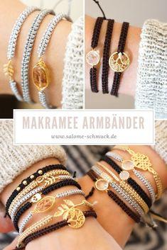 The macrame technique originating from the Orient is a . The macrame technique, which comes from the Orient, is a knot technique fo - Diy Jewelry Unique, Diy Jewelry Making, Jewelry Crafts, Handmade Jewelry, Bracelets Fins, Braided Bracelets, Friendship Bracelets, Gold Bracelets, Macrame Jewelry