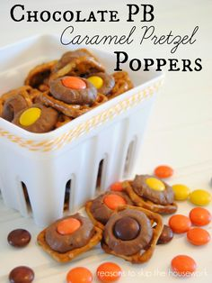Chocolate PB Caramel Poppers // Reasons To Skip The Housework