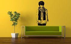 Wall Vinyl Sticker Decals Mural Room Design Pattern Anime Guy Scurf Movie Hero bo571
