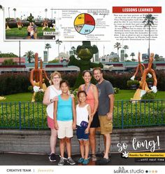So Long - Goodbye Disney digital scrapbooking layout using the Project Mouse (See Ya Real Soon) by Britt-ish Designs and Sahlin Studio