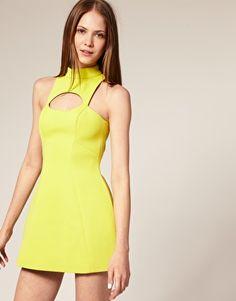 Now I want this: ASOS BLACK Neoprene High Neck Shift Dress..  Little obsessed