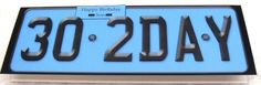 Large Dl 30th Birthday Novelty Number Plate and 3D Decoupage - Photo by Margaret…